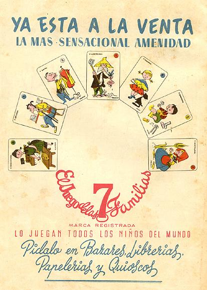 """Naipes """"El Juego de las Familias"""" (1959) 1"""