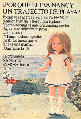 Muñeca Nancy con trajecito de playa, de Famosa (1972) 1