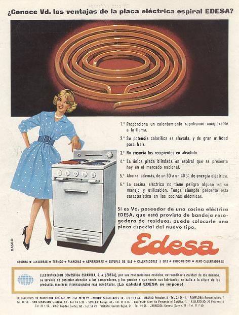 Cocinas Eléctricas Edesa (1960) 1