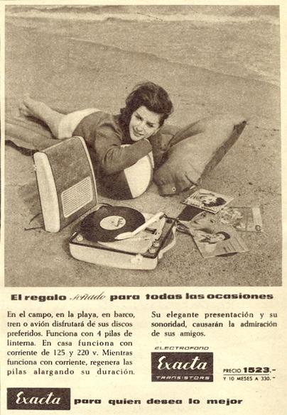 Electrófono Tocadiscos Exacta (1961) 1