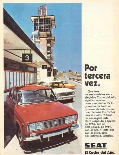 Seat 1430, Coche del año (1970) 1
